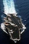 USS Saratoga (CV-60) bow view in 1990.JPEG