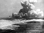 USS Wasp (CV-7) burning on 15 September 1942 (80-G-391481).jpg