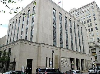 Nix Federal Building - Chestnut Street facade (2013)