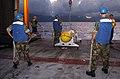 US Navy 040708-N-6932B-111 Crewmen assigned to Commander Mine Warfare Command, Unmanned Underwater Vehicle (UUV) Detachment prepare to launch a Battle-Space Preparation Autonomous Underwater Vehicle.jpg