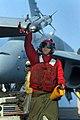US Navy 051128-N-4321F-045 An Aviation Ordnanceman checks a AIM-9X Captive Air Training Missile (CATM) for stability.jpg