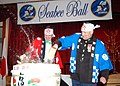 US Navy 070317-N-3019M-002 Lt. Cmdr. Brett Blanton and Marine Col. Kenneth Lissner perform a traditional Japanese breaking of the taru, or sake container, during the 2007 Seabee Ball at Fleet Activities Sasebo.jpg