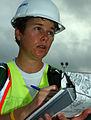 US Navy 080902-N-3285B-052 Lisa Goulet prepares to assess the damage from Hurricane Gustav.jpg