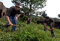 US Navy 090604-N-0807W-021 Sailors assigned to Fleet Activities Sasebo clean weeds and debris during a community service project at Ishidake Zoo.jpg