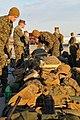 US Navy 100115-N-1831S-064 Marines organize their gear to take aboard USS Bataan (LHD 5).jpg