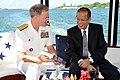 US Navy 111112-N-FK977-226 Adm. Patrick Walsh, commander of U.S. Pacific Fleet, presents President of the Philippines Benigno Aquino III a biograph.jpg