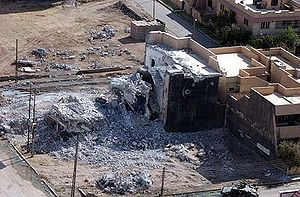 Qusay Hussein - House of Uday and Qusay Hussein in Mosul, Iraq destroyed by American forces, 31 July 2003