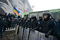Ukranian Riot police blocks access to Khreschatyk street and Euromaidan.jpg