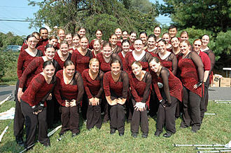 University of Massachusetts Minuteman Marching Band - The UMMB colorguard during the 2006 season