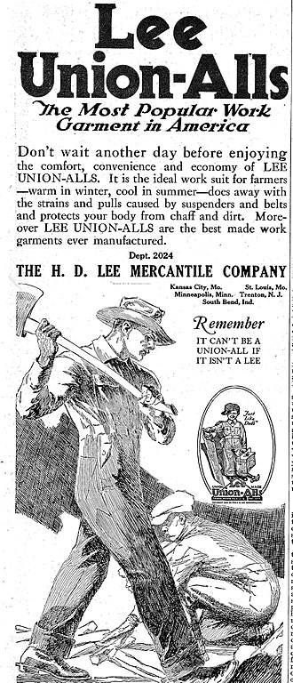 Overall - A Lee Union-Alls advertisement