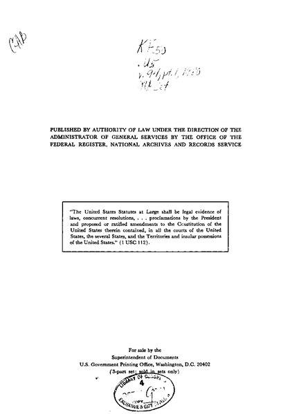 File:United States Statutes at Large Volume 94 Part 1.djvu