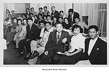 Photograph of many men and women in the Filipino Student Association in 1952