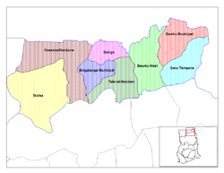 Districts of Upper East region,
