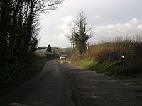 Upper Road into Adgestone.JPG