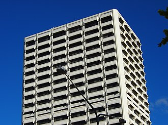 Lovett Tower - Image: Upper stories of the Lovett Tower in Oct 2012