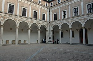 Ducal Palace, Urbino - The arcaded courtyard
