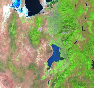 Rush Valley - Image: Utah Lake Landsat
