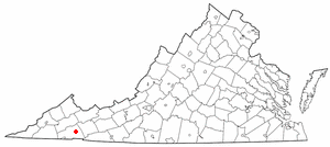 Emory-Meadowview, Virginia - Image: VA Map doton Emory Meadow View