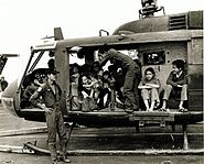 VNAF Huey full with evacuees