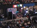VOA box during Michelle Obama's speech at the 2008 DNC (2798681851).jpg