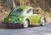 Rear, restored 1967 VW Beetle in Sri Lanka.
