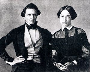 Varina Davis - Wedding photograph of Jefferson Davis and Varina Howell, 1845
