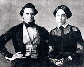 Varina Davis - Wedding photograph of Jefferson Davis and Varina Howell, 1845