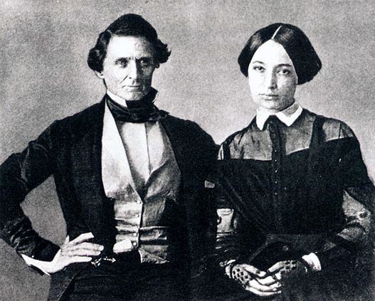 Jefferson and Varina Davis (1845)