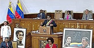 Nicolás Maduro - President Maduro speaking at a Venezuelan Constituent Assembly session on 10 August 2017