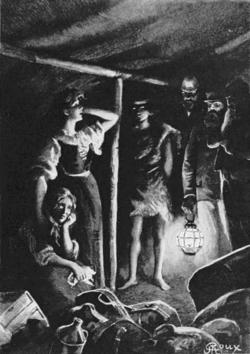 Verne - Les Naufragés du Jonathan, Hetzel, 1909, Ill. page 94