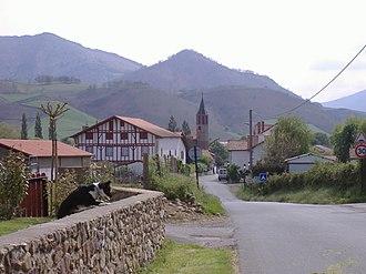 Ossès - Road to Ossès