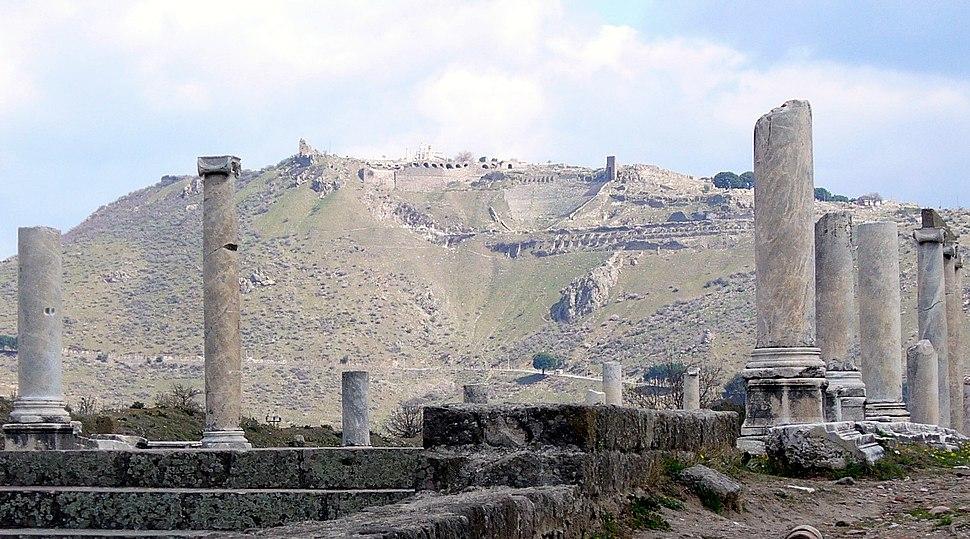Via Tecta acropolis Pergamum 487 detail