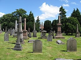 Victorian graves in Cathays Cemetery - geograph.org.uk - 1405099.jpg