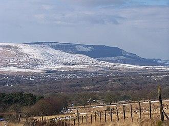 Llwydcoed - Image: View from Llwydcoed towards Hirwaun March 2006