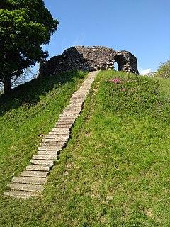 Wiston Castle caste in Wiston, Pembrokeshire, Wales