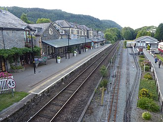 Betws-y-Coed - View of Betws-y-Coed railway station