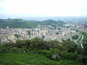 Spoleto - View of Spoleto.