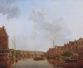 View of the River Amstel in Amsterdam