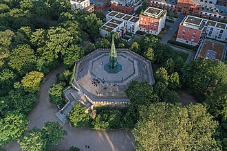 Prussian National Monument for the Liberation Wars - Aerial view