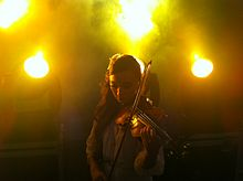 Violinist and Songwriter Backstage at Dubai 2012 New Year Concert.JPG