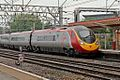 "Virgin Class 390, 390040 ""Virgin Pathfinder"", platform 5, Crewe railway station (geograph 4524883).jpg"