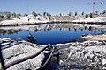 Visita a la laguna de la Boca Alta en Arganda para comprobar el avance de los trabajos de limpieza de la balsa de aceite.jpg
