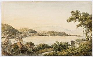 Vista do Rio de Janeiro tomada do outeiro da Glória (atribuído)