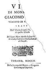 Marco Aurelio Cusano: Vita di monsignor Giacomo Goria vescovo di Vercelli