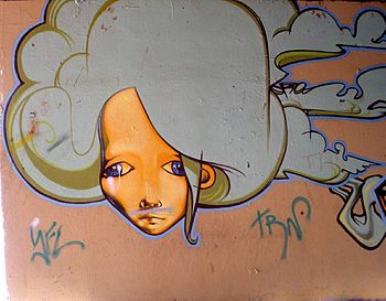 English: Graffiti en el barrio de Aranbizkarra...