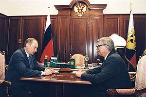 Sergey Mikhaylovich Ignatyev - Putin and Ignatyev in 2002