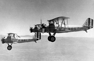 VMA-231 - A flight of Vought SU-2 Corsairs from VO-8M c. 1934.