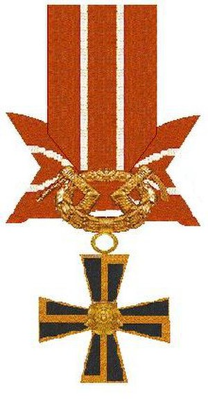 Orders, decorations, and medals of Finland - Order of the Cross of Liberty, 3rd class with swords