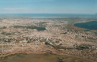 Vue aérienne de Tunis