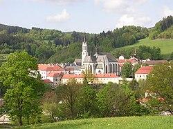 Vyšší Brod, klášter, od Hrudkova (01)
